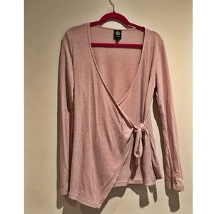 Bobeau blush pink blouse XL wore once